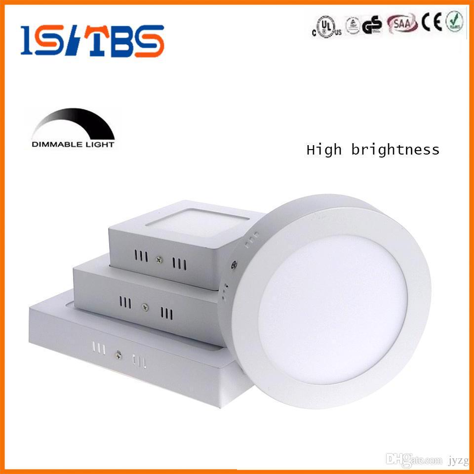 Regulable 9W 15W 21W redondo / cuadrado llevó la luz del panel LED montada en superficie empotrada iluminación de techo llevada abajo 85-265V + Drivers