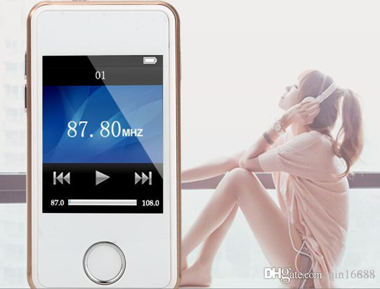 تعزيز الفضة الوردي الأحمر 7 ألوان لاختيار جديد الجنرال 2.0 tft لمس الشاشة 16 جيجابايت مشغل mp3 mp4 الرقمية راديو fm فيديو السفينة مجانية