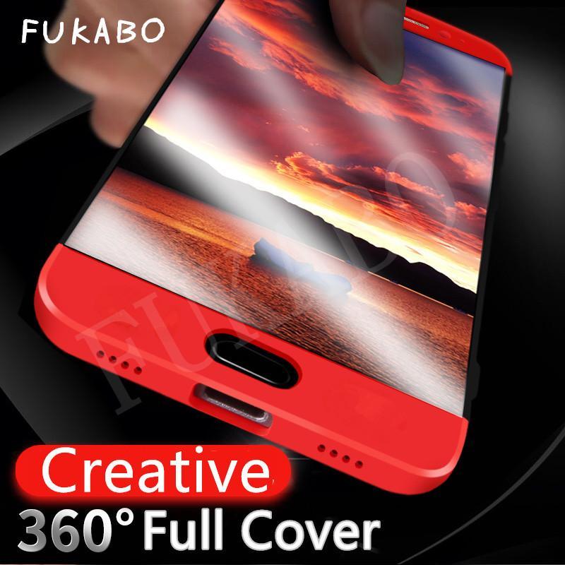 Funda protectora de lujo de 360 grados para todo el cuerpo para meizu m3 note m5 note case cubierta trasera de plástico para meizu m6 note phone case