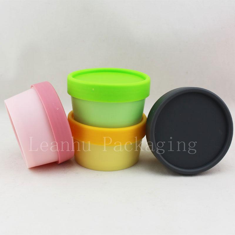 50 г цветной пустой круглый косметический контейнер, 50 мл пластиковые банки для крема с винтовыми крышками, косметическая упаковка DIY cream