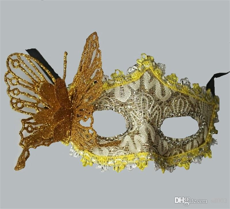 Lady Halloween Butterfly Face Maks Masquerade Costume Mujeres tridimensionales Half Fales Máscara Moda venta caliente 2 4gl Ww