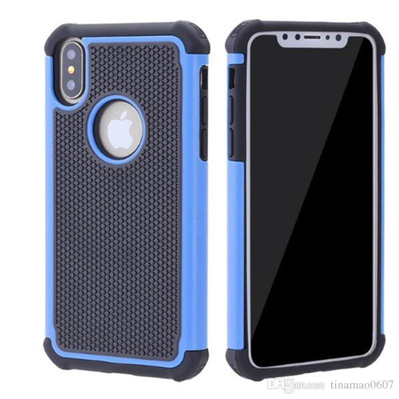 For iphone X 8 7 Plus Hybrid Case Rugged Impact Rubber Matte Shockproof Heavy Hard Case for iphone 5 6s 6plus iphone7 7plus