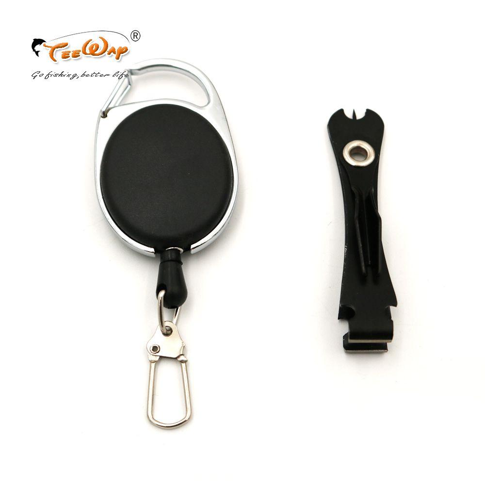 Quick Knot Tying Tool Pro Fishing 3 en 1 Línea Clippers Nippers Snips con retráctil Clip Fish Zinger Retractor Kit