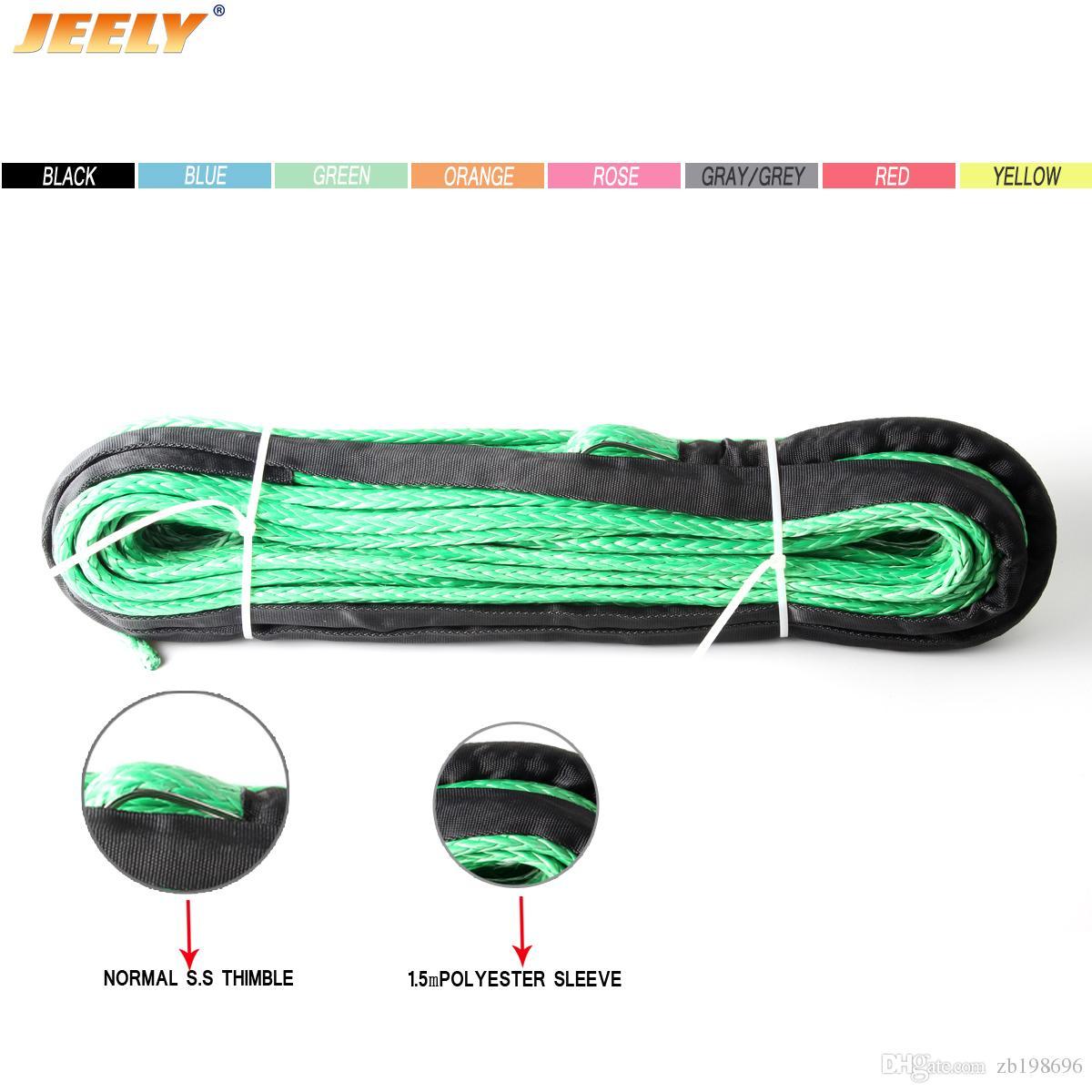 Livraison gratuite 10mm 30m 12 Strand UHMWPE Synthetic 4x4 / VTT Winch corde avec