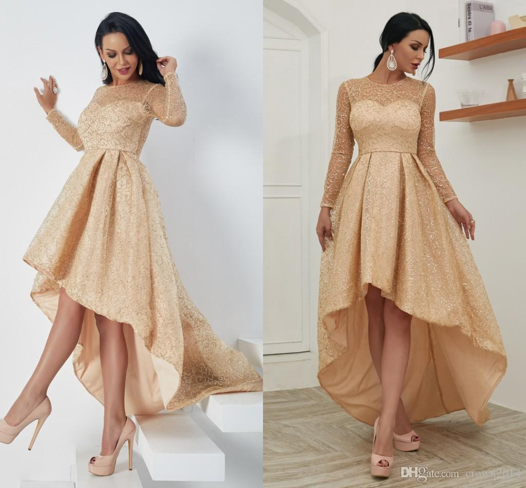 Gold High Low Dresses