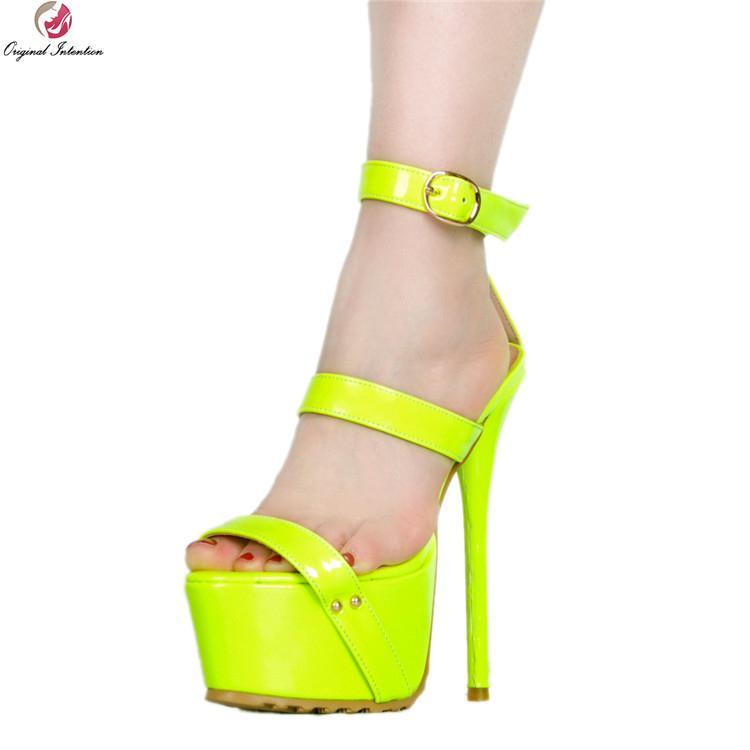 vente en gros femmes sexy sandales à la mode des talons hauts sandales élégantes noir vert rose rouge chaussures femme plus nous taille 4-20