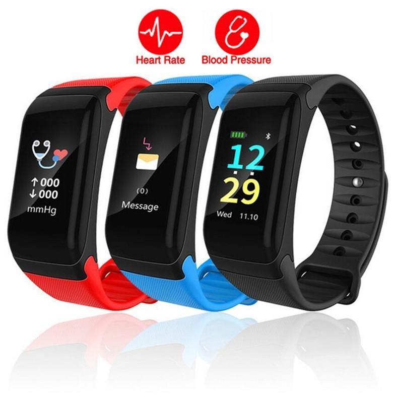 Nuovo braccialetto intelligente di salute di frequenza cardiaca del braccialetto di frequenza cardiaca del touch screen di tocco di colore F601 Braccialetto astuto di salute dell'inseguitore di forma fisica intelligente