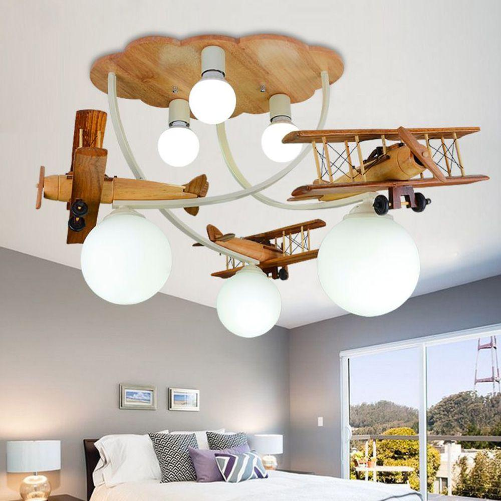 2020 Cartoon Wooden Airplane Ceiling Lamps Creative Child Room Baby Room Ceiling Lamp Boys Room Bedroom Ceiling Light From Oovov 304 53 Dhgate Com