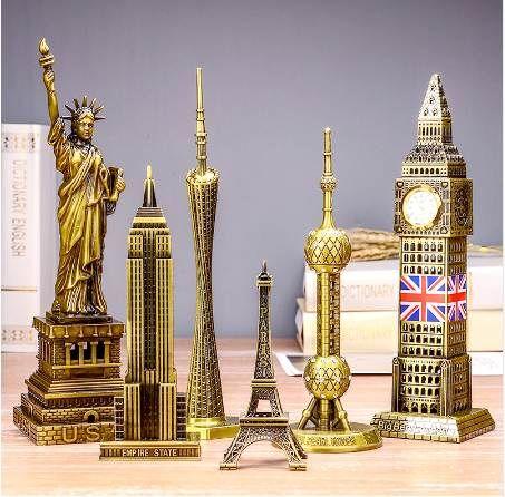 Dünyaca ünlü Eyfel Kulesi landmark Big Ben yapı metal modeli yapıları doğum günü hediyesi süsler ev dekorasyon aksesuarları heykeli