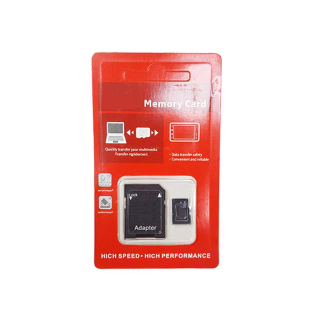 100% äkta äkta full kapacitet 2GB 4GB 8GB 16GB 32GB 64GB Klass 10 TF Flash Memory SD-kort med SD-adapter i rött generiskt detaljhandel