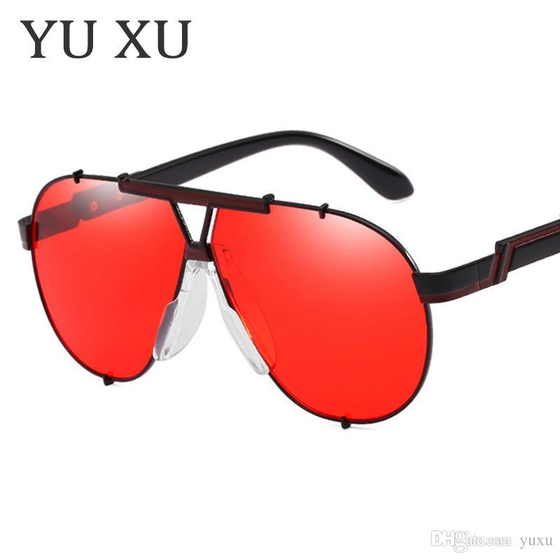 Fashion Lady Oversized Pilot Sunglasses Women 2018 Nuovo marchio Designer Occhiali da sole per uomo Grandi occhiali Occhiali da vista UV400 H01