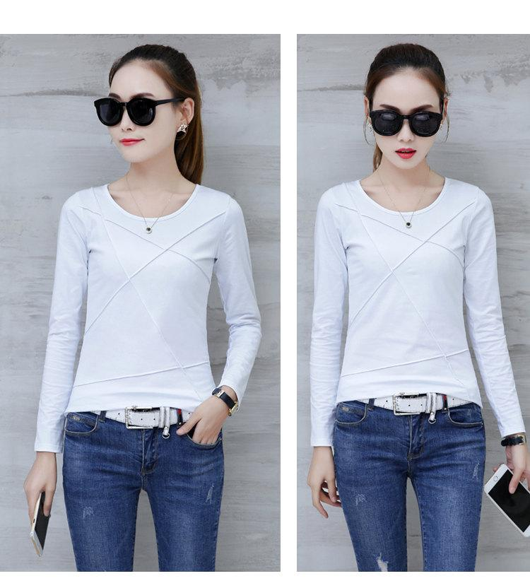 Plus Size Tshirt Women T-shirt Tee Tops Femme Autumn Long Sleeve T-shirts For Women 2019 Casual Cotton Tops Tees Camisetas Mujer (5)