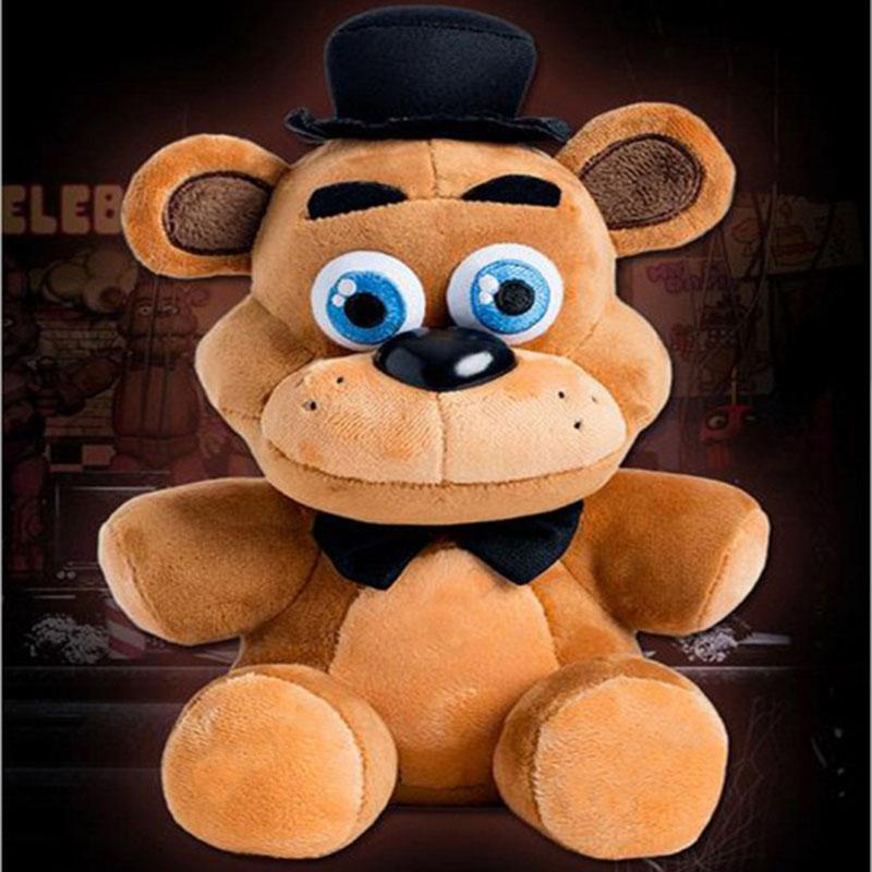 "1pc 25cm Freddy Ayı 9.8"" Beş Nights At Freddys Fnaf Freddy Foxy Bonnie Chica Çocuk Oyuncakları Hayvanlar Peluş Bebekler Doldurulmuş Hayvanlar"