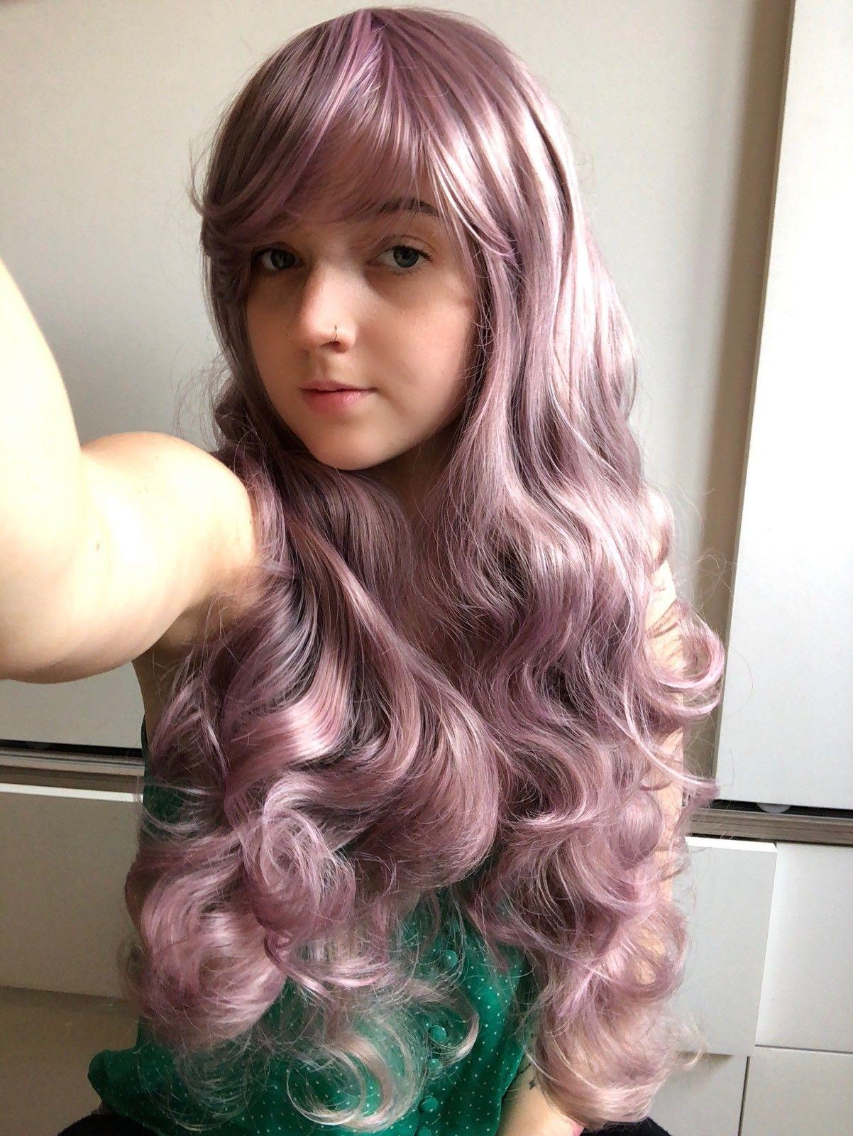Curly Long Anime Women cosplay peluca
