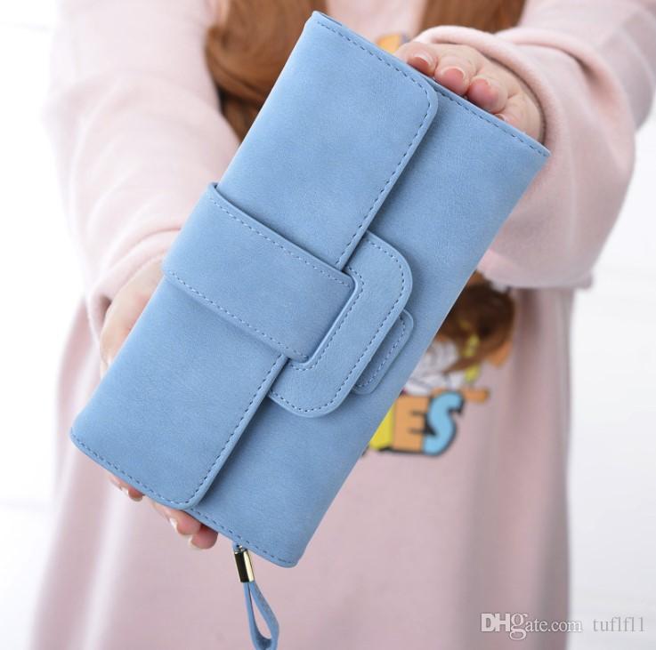 Borsa da donna che trasporta una borsa lunga con una patta tripla per piccoli e freschi studenti tasca tasca portafoglio multi-funzionale