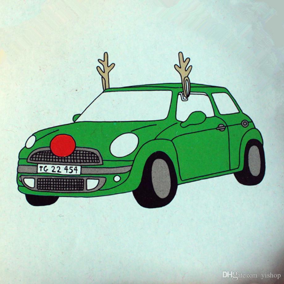 Rentier Auto Rudolf für Weihnachts Auto,AutokostüM Reindeer Auto Weihnachtsdeko