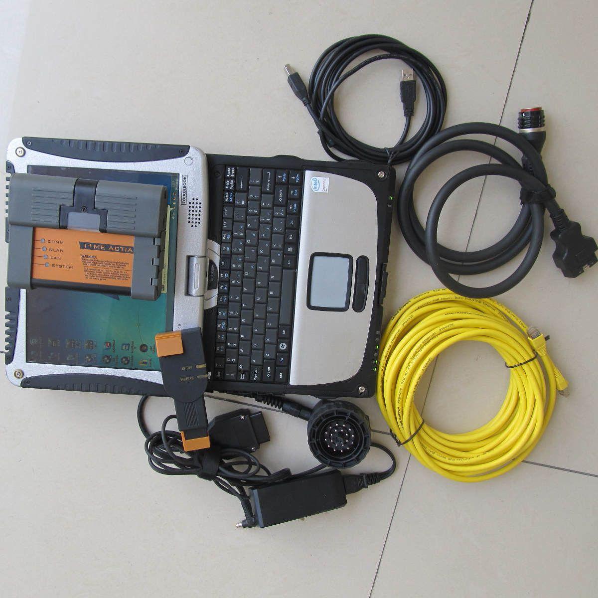 2018.09 nuevo para BMW ICOM A2 + B + C Diagnóstico para la herramienta de programación BMW con icom a2 500GB HDD instalado en laptop cf-19 i5