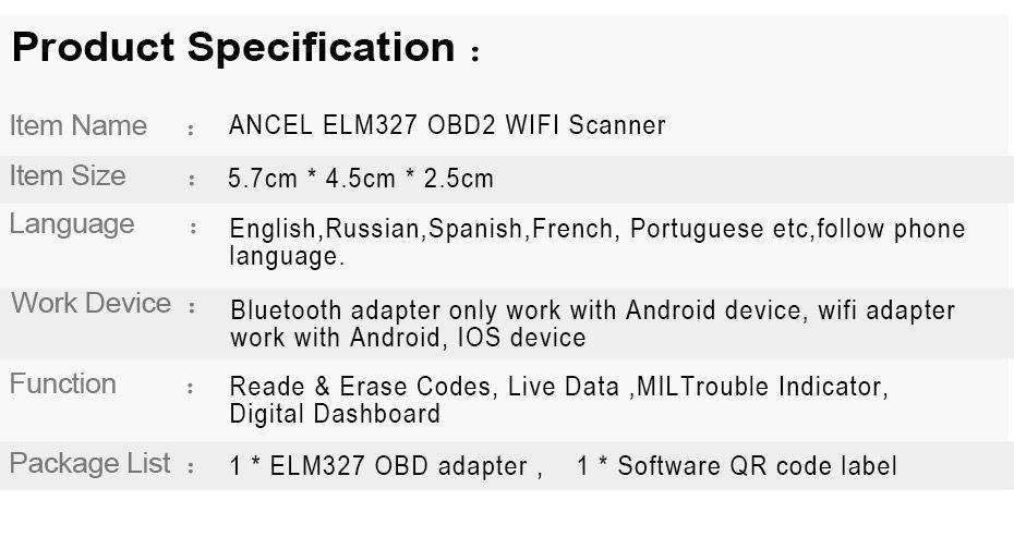 Ancel ELM 327 WI-FI 1.5 ELM327 V1.5 OBD2 OBD ODB 2_05