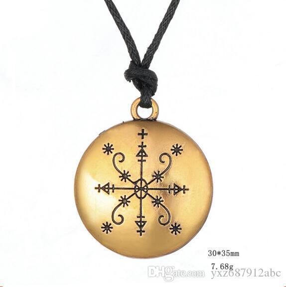 Naszyjnik wisiorek dla kobiet Mężczyźni Specjalne Runy Viking Feeling Biżuteria Religie Amulet Talisman Stopu cynku Zapewnij dropshipping