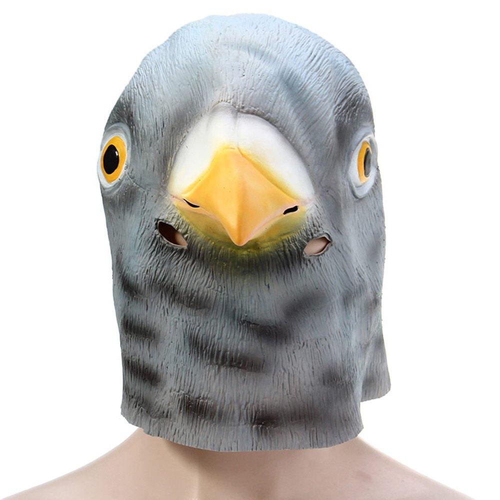 Artificial Latex Pigeon Head Mask For Halloween Masquerade Party, Christmas Cosplay Gadget Stage Performance Property.