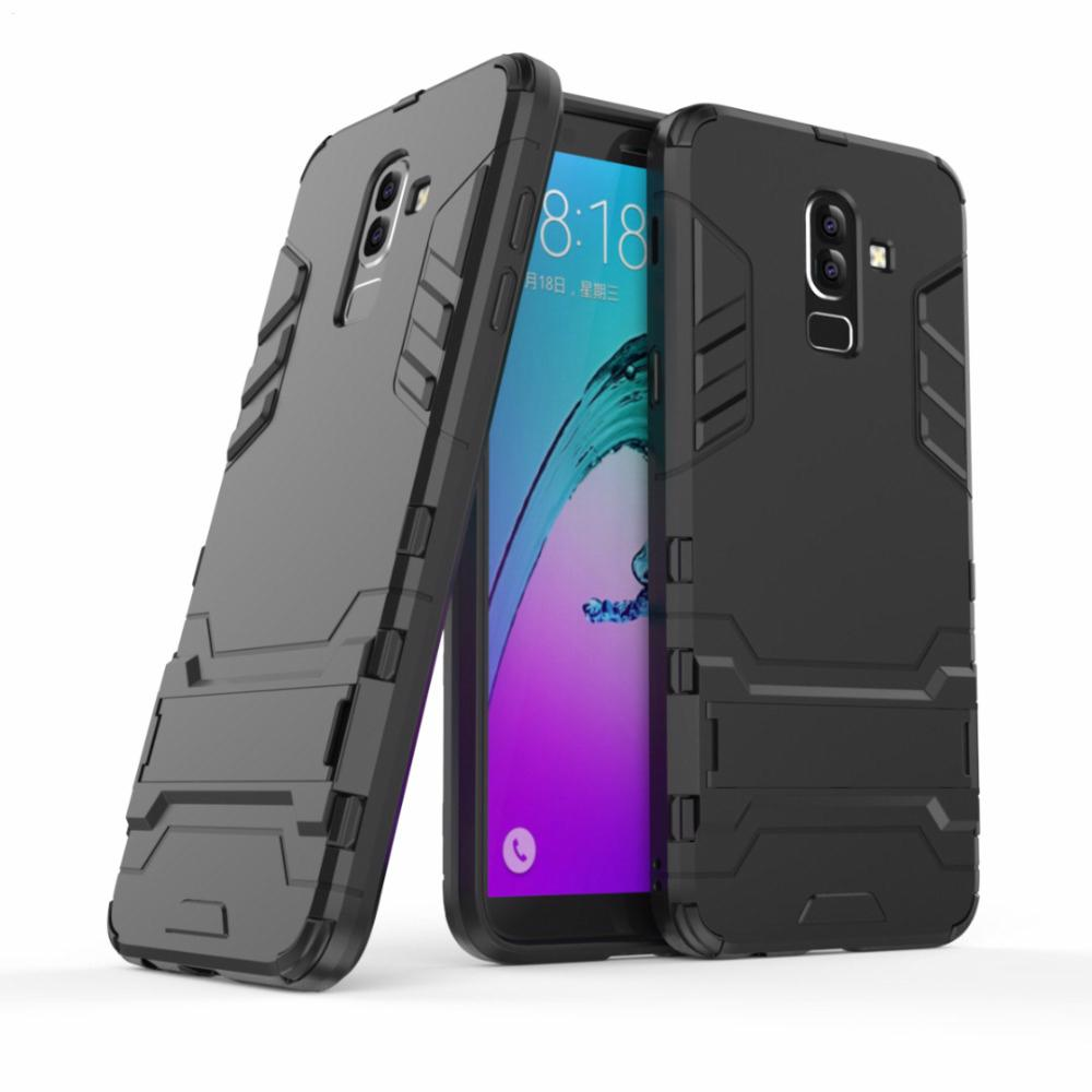 For Samsung J8 2018 Case Silicone Armor Hybrid Hard PC+TPU Cover for Samsung Galaxy J8 2018 buiness style back cover bags