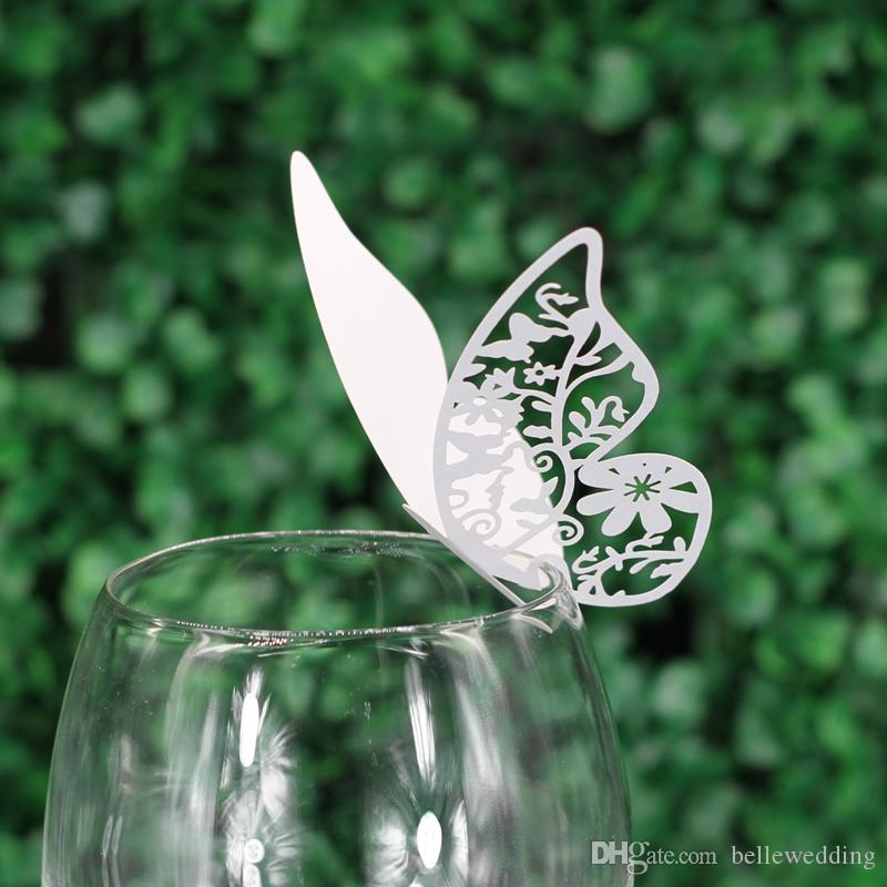 Butterfly Seating Cards Laser Cut Hollow Paper Name Card For Party Wedding Place Cards Wedding Table Decorations PC1001