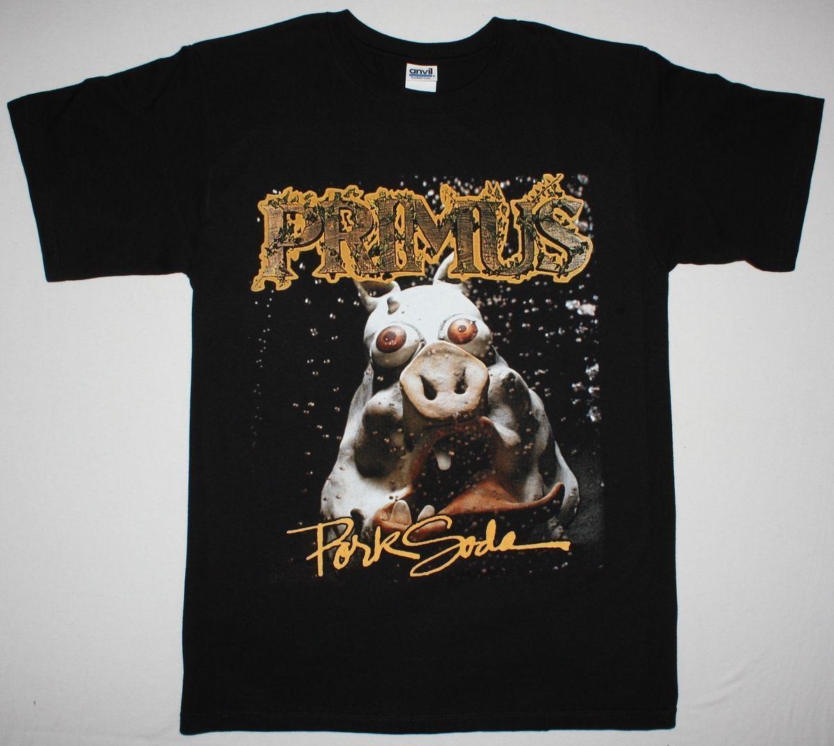 Primus Pork Soda'93 Les Claypool Saucisse Funk Alternative Rock Nouveau T-shirt Noir Pour Hommes 100% Coton Imprimé À Manches Courtes