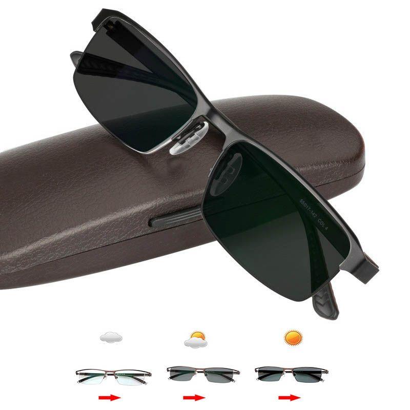 خفيفة الانتقال أحد نظارات القراءة اللونية عالية الجودة سبيكة الإطار في الهواء الطلق طول النظر الشيخوخي النظارات الشمسية النظارات الانتقالية
