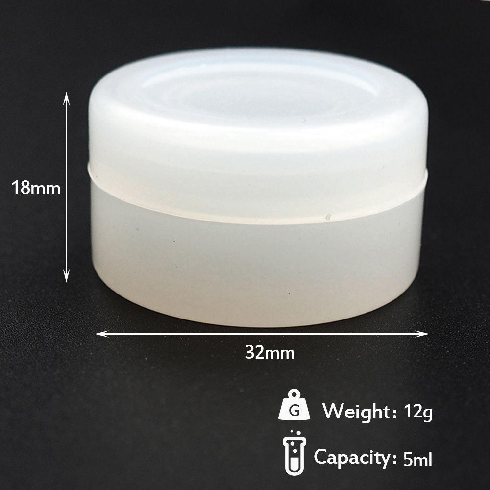 50X Klar 5ml Silikon Gläser Dab Wachsbehälter Wachsbehälter Silicon Jars Container Non-Stick Wax Jars Dab Lagerung