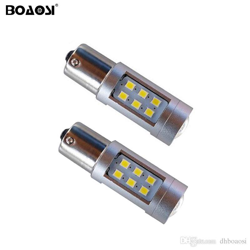 Pas d'erreur P21W BA15S 1156 Canbus 21 LED Ampoules 2835 SMD Feu arrière clignotant Inverser les lumières de la voiture Lumière Sourcing
