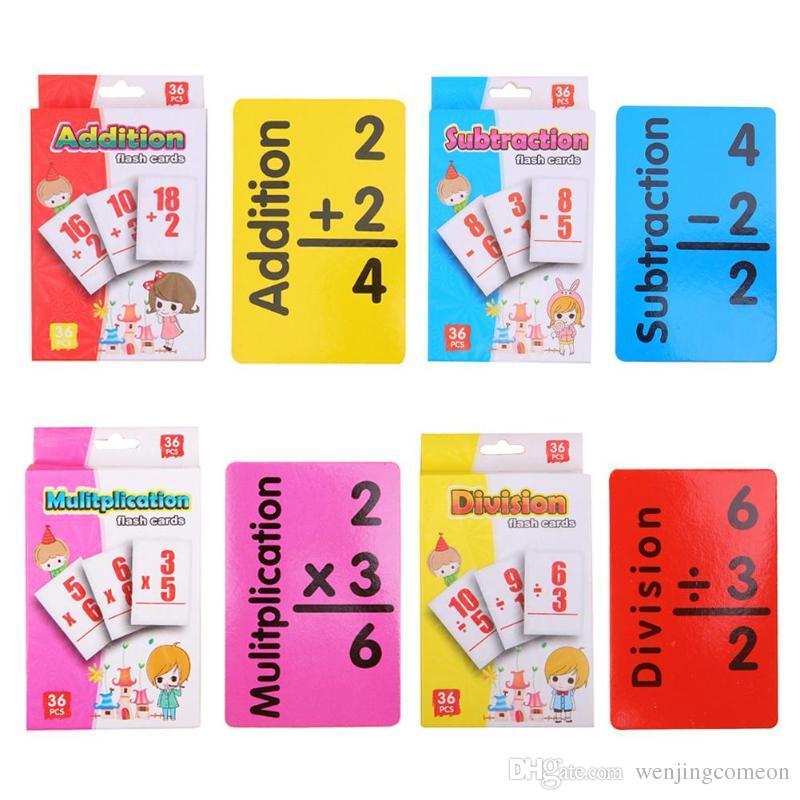 Kinder Puzzle Early Education Arithmetic Card 36 Englisch Lernkarten Spielzeug für Kinder Entwicklung von Lernspielzeug