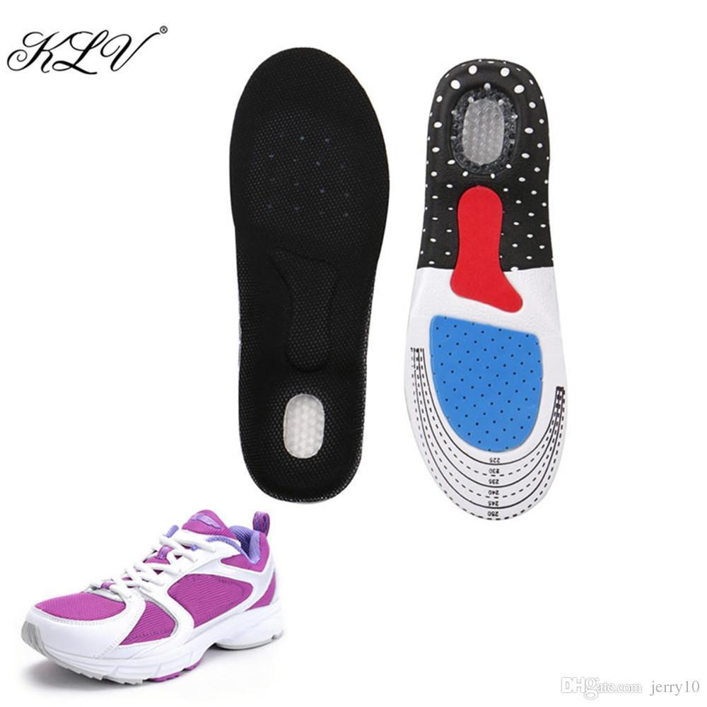 KLV Unisex in silicone per piede sottopiede pad pastiglie plantari supporto scarpa 35-40 dimensioni