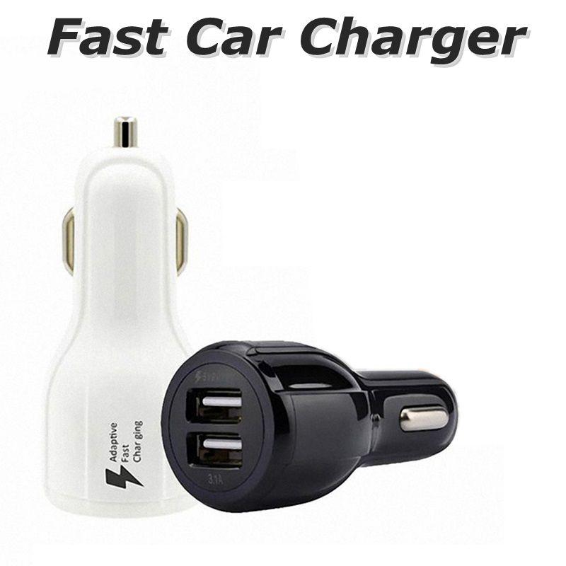 3.1 Un cargador de coche rápido LED Dual USB rápida de carga adaptativa 9V 12V 5V para Samsung S9 S8 Nota 8