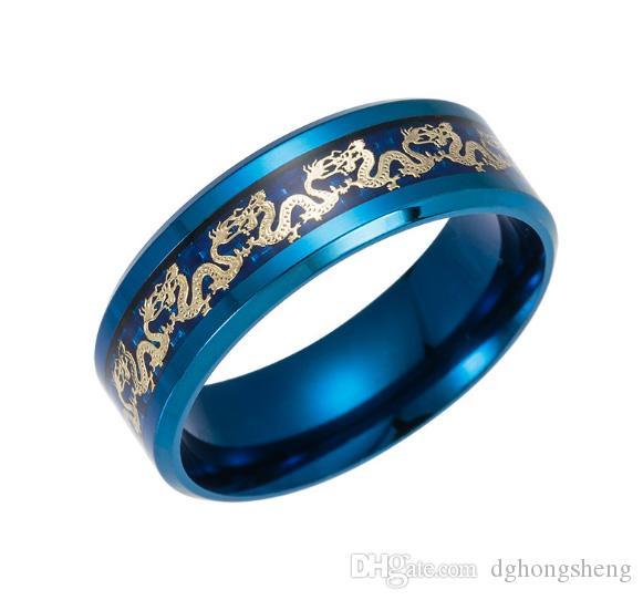 2017 nuovi gioielli caldi di alta qualità in acciaio al titanio drago logo anello per signora donna uomo festa di Natale promozione di giorno