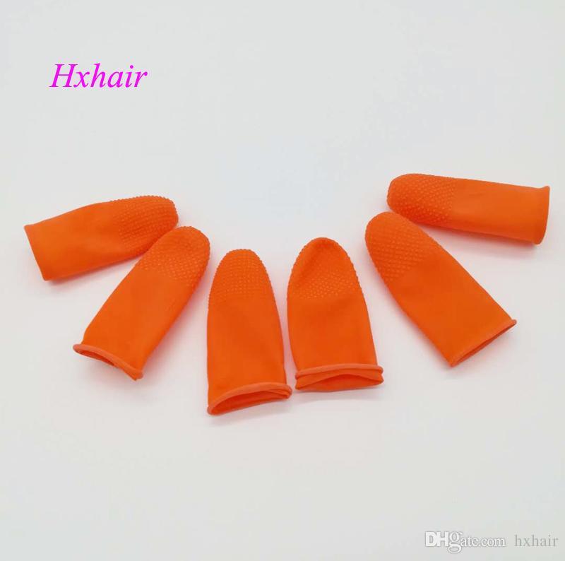 Cestini del dito del lattice di 100pcs / protettore del dito / strumenti / campioni di estensione dei capelli