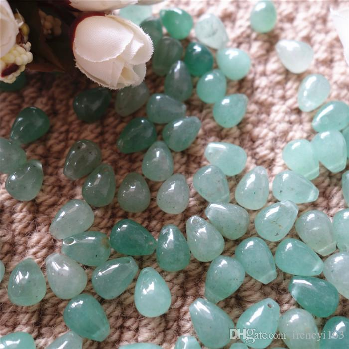 Cheap Price 50pcs Natural Gemstones Green Aventurine Drop Shape 9*12mm Loose Beads For Jewelry DIY Earrings Necklace Bracelet Free Shipping