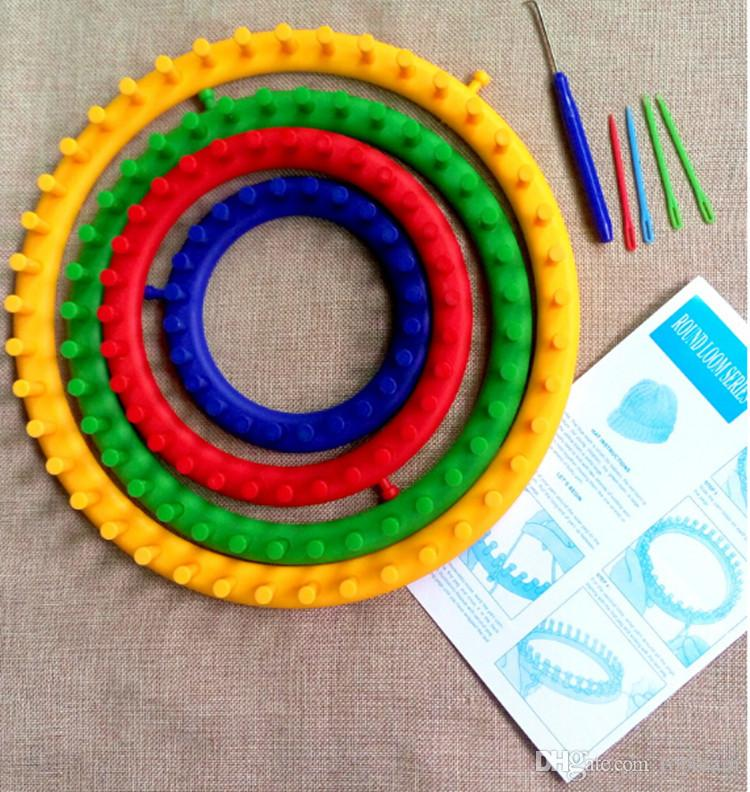 New DIY Woolen Hat Hand Knitting Tool Round Sweater Muffler Gloves Scarf Wool Knitter Hat Knitting Set