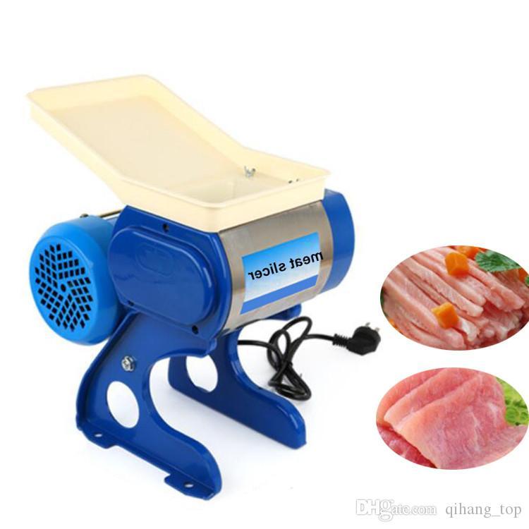 Qihang_top Edelstahl Klinge Fleisch Slicer Fleischwolf Elektrische Kommerziellen Fleischwolf Schneidemaschine Küche Cutter Maschine