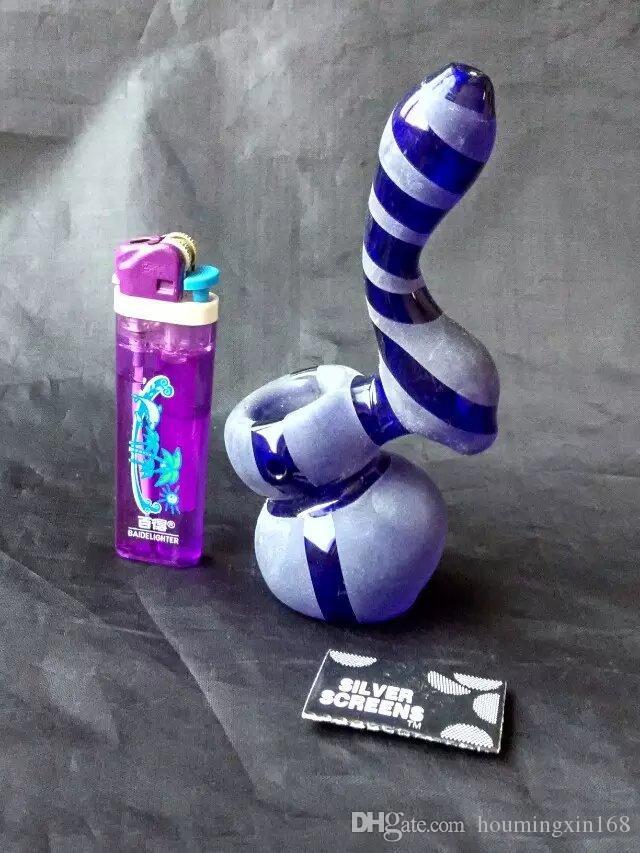 El color de la tubería Bongs al por mayor Pipas de quemador de aceite Pipas de agua Pipas de aceite de tubo de vidrio Fumar, envío gratis