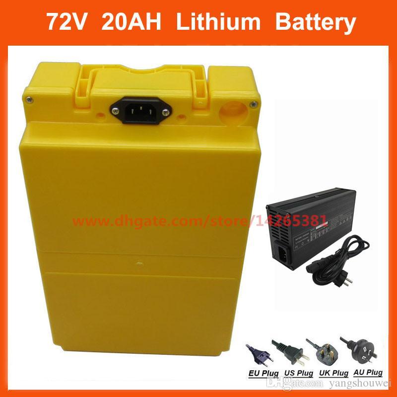 72 V 20AH 1500 W Elektrikli Bisiklet Pil 20 S 72 V 21AH Lityum Batterie 35e 18650 Cep Kılıf 30A BMS 84 V 2A Şarj Ücretsiz Kargo