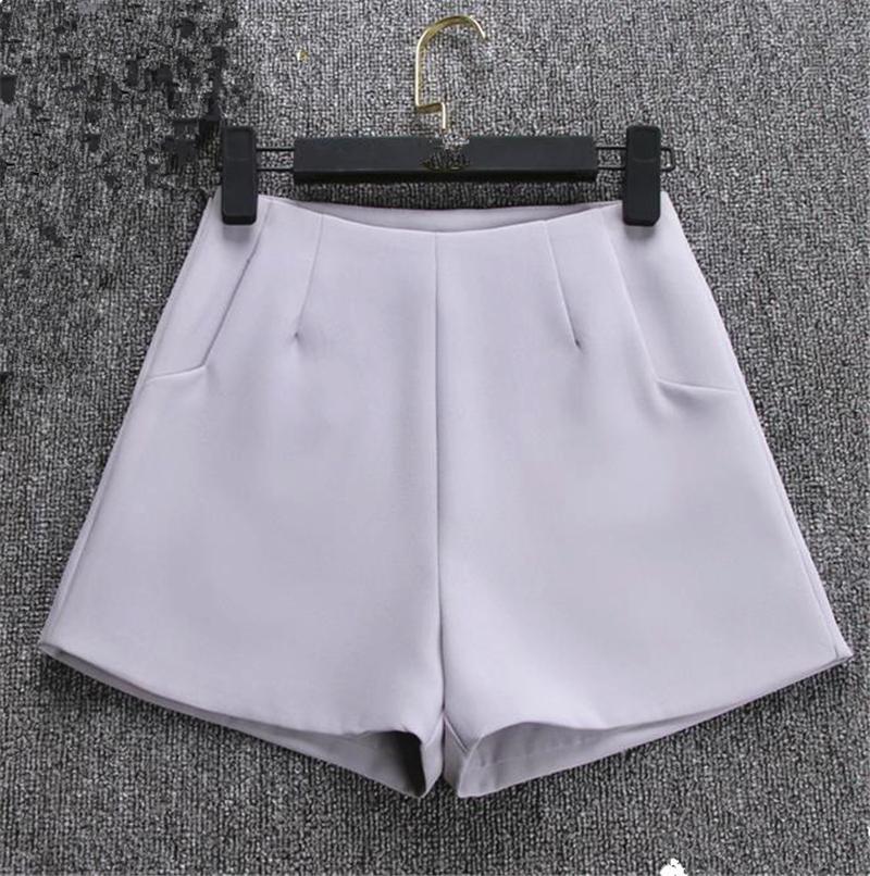 2018 Nuevo Verano Negro Blanco Mujeres Pantalones Cortos Señoras Pantalones Cortos moda caliente Nuevas señoras Pantalones Cortos Faldas de Cintura Alta Traje Casual