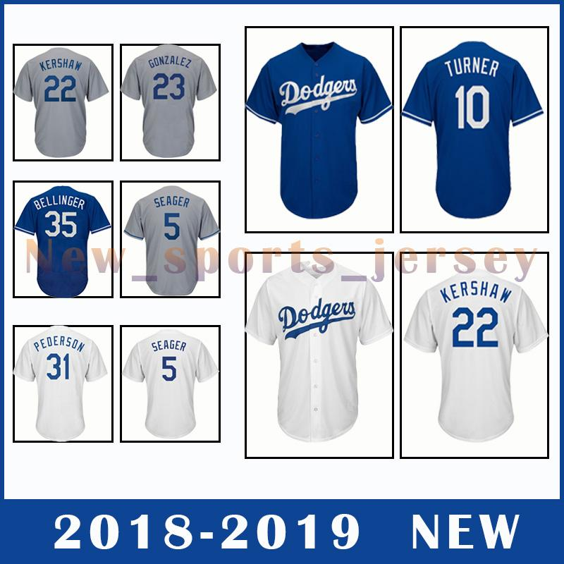 the best attitude 2db2b 98f90 Dodgers Kershaw jersey Quality Clayton New 2018 Los Top 2019 ...