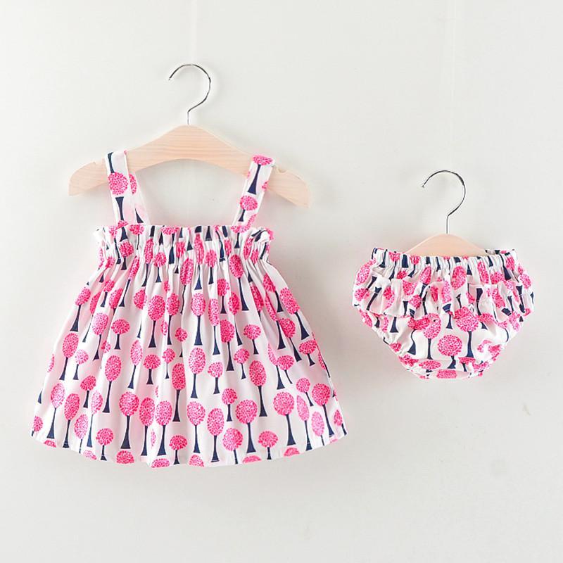 Cola conjunto de ropa para bebés conjunto de ropa para niños pequeños de verano vestido floral para niñas recién nacidas + pantalones cortos 2 piezas traje infantil