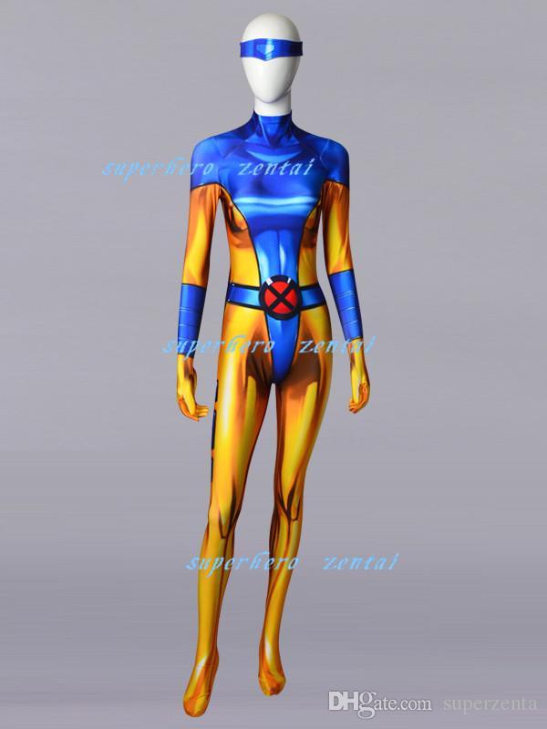 New Cosplay X-MEN Jean·Grey Superhero Costume Bodysuit Jumpsuits Zentai Adult