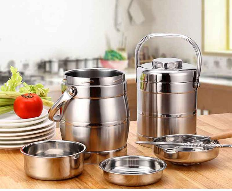 Vacuum Double Wall Stainless Steel Insulated Lunch Bento Box Portable China Japan Style Food Container For Kids Adult Student 22