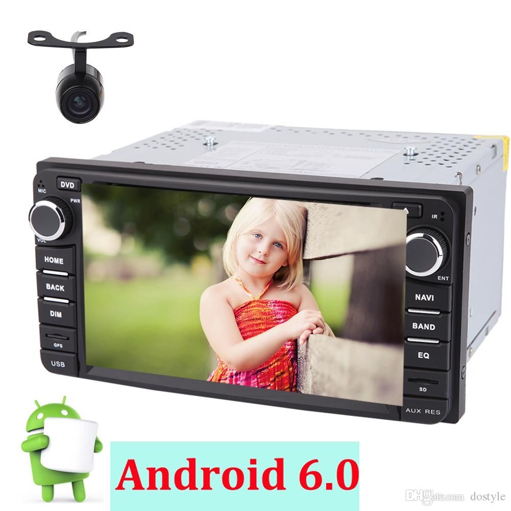 Double din 6.2'' Car dvd Radio Stereo For TOYOTA Corolla(2008-2013)in Dash 2din Qua-core Android6.0 Stereo System GPS Navigation Bluetooth