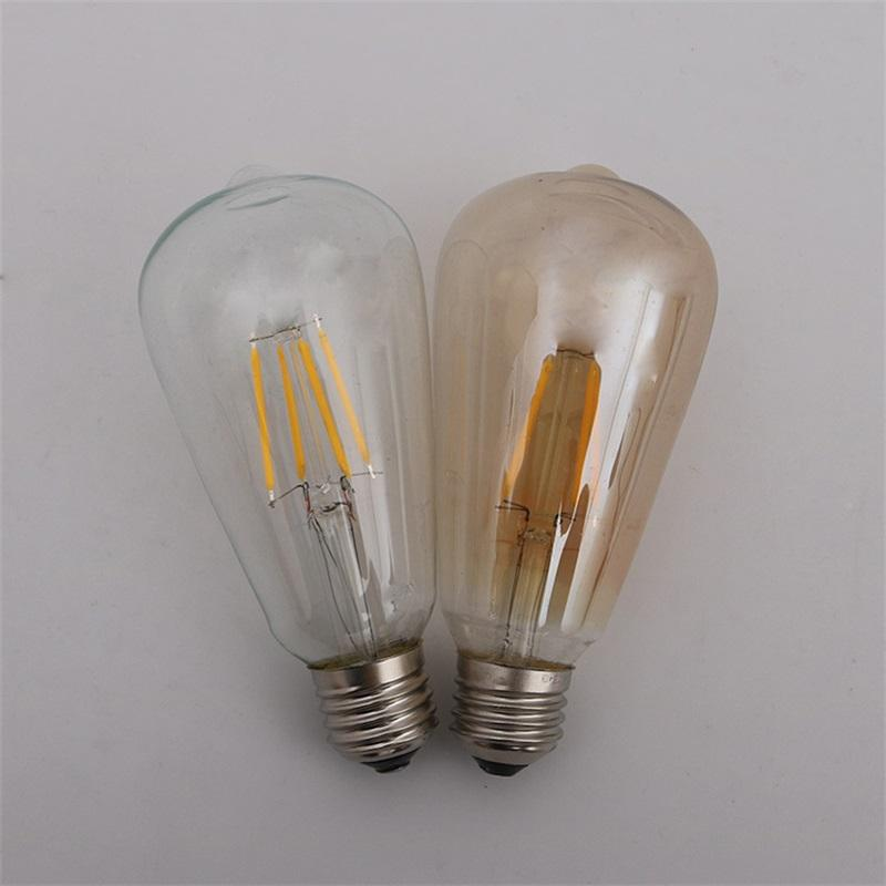 Retro LED Lámpara de filamento de tungsteno de la vendimia 4W 6W 8W regulable Tan bombilla de iluminación Suministros de decoración del partido 8 71bs bb
