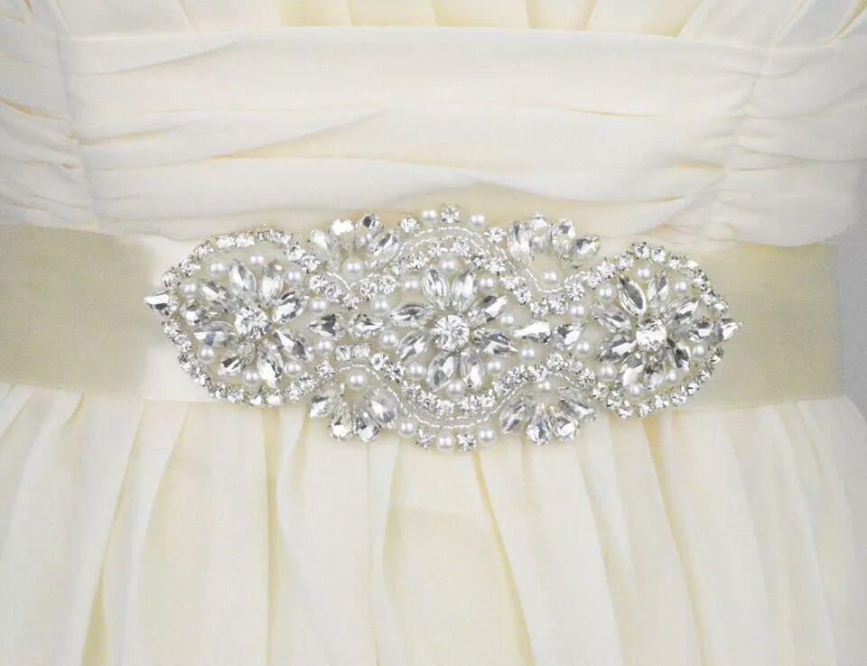 Wedding Bridal Dress Belt Crystal Rhinestone Wedding Sash Belt Accessories