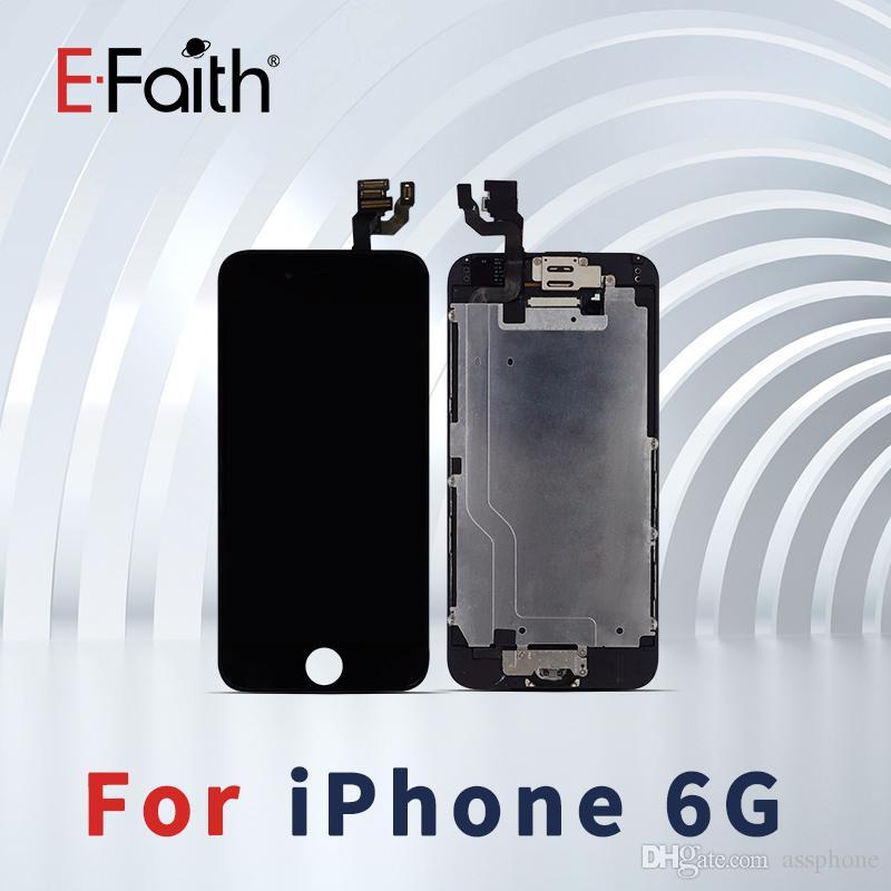 EFaith di alta qualità per iPhone 6 LCD Full Set con digitalizzatore pagina dell'incastronatura + Home Button + Macchina fotografica anteriore insieme completo di trasporto