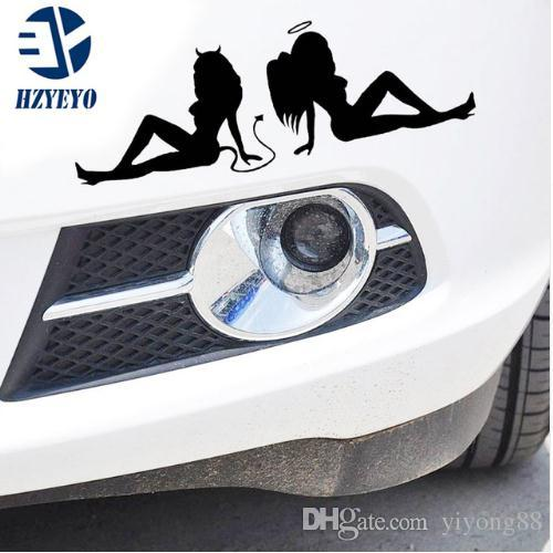 N-519 reflective beauty temptation of angels and demons personalized car stickers